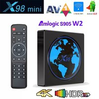 X98 Mini Android 11.0 TV Box Amlogic S905W2 4GB 64GB or 32GB 4K Smart Media Player 2.4G 5G Wifi Supports BT Airplay DLNA Miracast Set Top Box 2G 16G