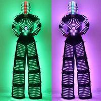 LED Robot Suit Costume High Heel Kryoman Robot David Guetta Stilts Walker Light