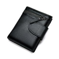 Wallets Luxury Designer Mens Wallet Genuine Leather Short Holders Hasp Vintage Male Purse Coin Pouch Multi-functional Cards Clip
