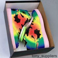 Новый выпуск J Balvin 1 Баскетбольная обувь 1S Super Bowl Rainbow Tear Tear Mens Trainers Спортивные кроссовки Размер 40-47