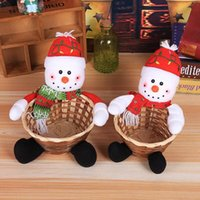 Candy Storage Basket Decoration Santa Claus Storage Basket Gift Christmas Decoration Christmas Candy Fruit