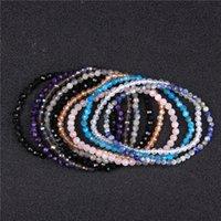 Top Qualität 4mm Handmade Micro Facettierte Frauen Natur Charoite Labradorite Lapislazuli Obsidian Perlen Armband