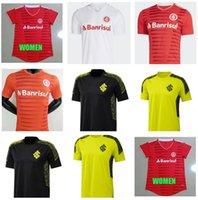 21 22 Club Internacional de futebol Jersey Vermelho Home 2021 2022 Longe Branco Rosa Terceira Camisa de Futebol Mulher N. Lopez D.Alessandro Pottker Top