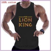 Çoklu Aslan Kral Pamuk Kolsuz Gömlek Tank Üst Erkekler Spor Gömlek Erkek Singlet Vücut Geliştirme Egzersiz Spor Yelek