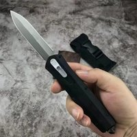 Automatic Tactical Knife 3Cr13Mov Double Action Blade Stainless Steel Handle EDC Pocket Knives With Nylon Sheath