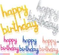 생일 축하 배너 풍선 파티 장식 로즈 골드 5 색 풍선 편지 장식 재사용 가능한 풍선 공급 HWB8533