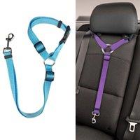 Pet Dog Cat Car Seat Belt Adjustable Harness Seatbelt Lead Leash for Small Medium Dogs Travel Clip Supplies 6 Color