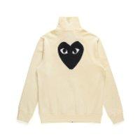 Heiße beste qualität com des garcons c087c schwarz unisex casual brief druck cdg spiel langen pullover sweatshirts hoodie mantel