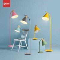 LED Nordic Modern Minimalist Yaratıcı Yatak Odası Çalışma Renk Macarons Zemin Lambası