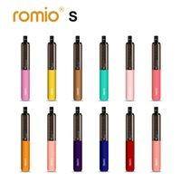 원래 Romio 전자 담배 일회용 vapes 2000 퍼프 6.5ml 포드 용량 12 색 퍼프 바 450mAh 배터리 100 % 누설 방지 vape 펜 1.2Ohm 메쉬 코일 Ecig Ecigarette