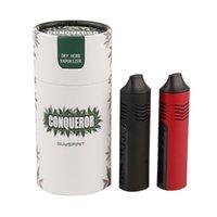 Conqueror TC Dry Herb Vaporizer Kit di sigarette elettronico Ceramica Camera di riscaldamento in ceramica 2200mAh Batterie OLED Batterie a base di erbe Penna Pathfinder
