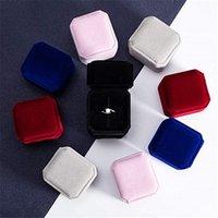 Caixa de varejo da caixa de varejo do anel quadrado Caixas de armazenamento dos casos de armazenamento dos casos de armazenamento para jóias
