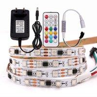شرائط RGB LED الشريط ضوء فليكس قطاع 12 فولت التحكم عن بعد 60led / م WS2811 مع السلطة التوصيل الرقمية بكسل الشريط 1 متر 2 متر 3 متر 4 متر 5 متر
