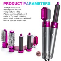 5 Heads Multi-function Hair Curler Dryer Automatic Curling Irons with Gift Box For Rough and Normal EU US UK AU Plug