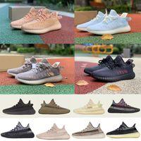 Barato 2020 35v2 Cinder Kanye West Shoes Sulfur Yeshaya Asriel Terra 3M Estático reflexivo Israfil Triple Branco V2 Running Sapatos Tamanho 36-46