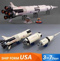 37003 2009PCS Rocket Space Lanzamiento Vehículo Saturno V Modelo Building Blocks Juguetes para niños Compatible con 21309 80013