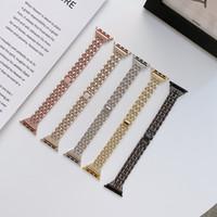 Luxus-Diamant-Armband-Edelstahl-Band für Apple Watch-Serie 1 2 3 42mm 38mm Armbandarmband mit Einzelhandelspaket