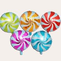 18 pollici rotondo mulino a vento lecca-lecca in alluminio palloncini palloncini da sposa festa per adulti per bambini decorazione festa di compleanno decorazione caramelle palloncino giocattolo