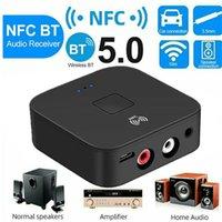 블루투스 5.0 RCA 오디오 수신기 3.5mm 3.5 AUX 잭 스테레오 음악 NFC 무선 어댑터 자동차 TV 홈 스피커 자동