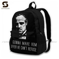 حقيبة الظهر godfather حقائب كبيرة أنيقة البوليستر الركض أكياس الذكور