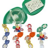 اتجاه واحد قناع الإنعاش CPR الإنقاذ مع 10pcs / lot جيب صمام التنفس للأول المعونة المعونة معدات الطوارئ multipw9p 6sjn9