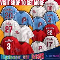 3 Bryce Özel Philadelphia Harper Beyzbol Mike Schmidt Jersey Aaron Nola Rhys Hoskins J.T. Realmuto Formalar Pete Gül Tug McGraw Jersey