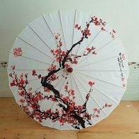 Ombrelloni Donne di seta Ombrello Giapponese Cherry Blossoms antico danza decorativa stile olio cinese stile olio