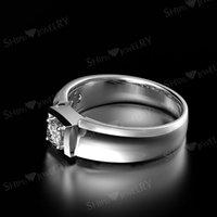 HBP fashion Poetry Korean version simple and versatile lovers simulation diamond Mosangshi men's Ring jewelry