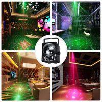 웨딩 조명 60 패턴 사운드 활성화 디스코 볼 파티 조명 스트로브 라이트 18W RGB LED 조명 크리스마스 KTV 디스코 빛