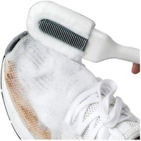 Clothing & Wardrobe Storage 3 Side Shoe Cleaning Brush Multifunctional Long-Handled Cleaner White Boot Leather Shoes