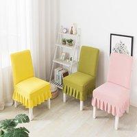 يغطي كرسي الطعام النسيج الصوف للكراسي غطاء مطبخ قابل للتوسيع مع ظهر 4 قطع كروسوف