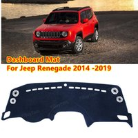 For Jeep Renegade 2014~2019 BU Trailhawk Anti-Slip Mat Sunshade Dashmat Protect Carpet Dashboard Cover Pad Accessories
