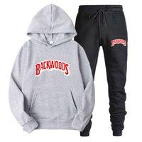 İlkbahar ve Sonbahar Yeni Backwoods Baskılı Spor Erkek Hip Hop Hoodie Kazak Suit Hoodies