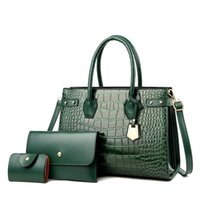 Evening Bags Fashion Shoulder For Women Summer Crocodile Pattern Solid Color Lady Crossbody PU Leather Handbags Simple Female Totes