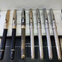 MSK-163 Klassische Füllfederhalter Luxus Super Qualität Metall Schule Büroversorgung mit Seriennummer Glatte Schreibwaren + Plüschbeutel