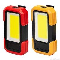 Lanternas portáteis LED de trabalho recarregável luzes Ímã pendurado gancho trabalho local de trabalho para carros reparando camping caça jy13 21 Dropship