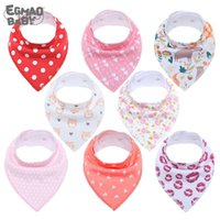Baby Bandana Drool Bibs Unisex 8-Pack Gift Set for Drooling and Teething Organic Cotton Soft and Absorbent Hypoallergenic Bibs 210317