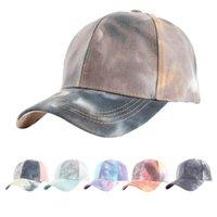 6 새로운 스타일 타이 - 염료 낙서 포니 테일 모자 양동이 모자 야외 레크리에이션 야구 모자 최신 거리 야외 스포츠 조수 모자
