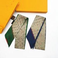 2021 Vendita calda Sciarpa di seta di marca Moda Boutique di alta qualità Boutique Twill Sacchetto di seta Sciarpa di seta Sciarpa di alta qualità Sciarpa a nastro di alta qualità Banda per capelli