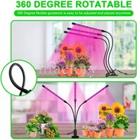 3 Head Clip Plant Grow Light LED Plants Growth Lamp Desk Growing Lights 27W Dimmable Full Spectrum with Dimmer and Auto ON OFF Timer