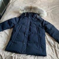 Пуховиковая куртка Parkas Mens верхняя одежда высокого класса с капюшоном волка ветрозащитный водонепроницаемый мягкий утолщение пальто съемные кепки пальто от уличных куртки теплые и прочные