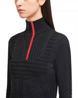 Mulheres Suéteres de lã Outwears Tops Supershirts para senhora Silm Knits T-shirt mangas compridas Pescoço alto Camisola quente com letras Bordado decote Zippers Ajuste