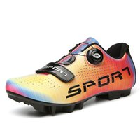 Bisiklet Ayakkabı Yaz Erkek Ayakkabı Sapatilha Ciclismo MTB Kendinden Kilitleme SPD Cleats Bisiklet Açık Yol Bisikleti Yarış Sneakers 47