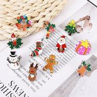 Pins, Broschen Weihnachten Pin Mode Emaille Schmuck Weihnachtsbaum Socken Santa Claus Figure Design Revers Abzeichen Sammlung Brosche