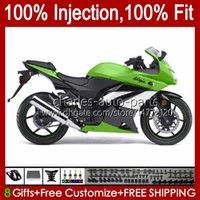 Injeção para Kawasaki Ninja ZX250R ZX 250R ZX250 13HC.101 EX250 EX250R 08 09 10 11 12 ZX-250R 2008 2009 2011 2012 2012 Fairing Stock Verde