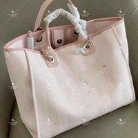 Grande capacidade feminina sacos de praia bolsa de lona bolsa de bolsa grossa, mas clássico adequado para todos os dias ser sal canela moda doce