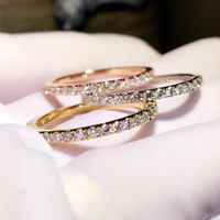 Cluster Rings Eternity Female Ring 925 Sterling Silver Micro Pave Zircon Cz Wedding Band For Women Bridal Party Jewelry Gift