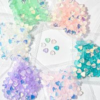 100 pcs 3D Heart Shaped Cat Eye Stone Decal Nail Art Rhinestones Charms Gems Stones Decoration Craft Jewelry DIY Diamond