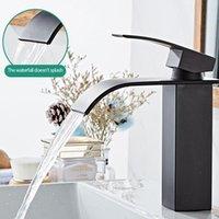 Bathroom Sink Faucets Faucet Waterfall Basin Bathtub And Cold Water Mixer Wash Countertop Installation Electroplating Head
