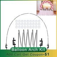 Tischballon Bogen Set Ballon Säulenständer für Hochzeit Geburtstag Halter Spalte Stand Stick Tisch Bogen Kit Party Decor